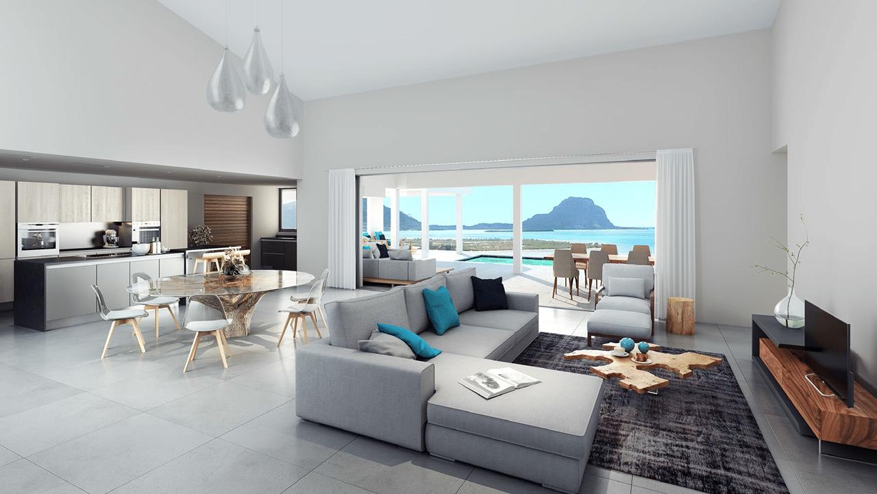Vente villa de luxe constellation marguery carina tamarin for Salon luxe