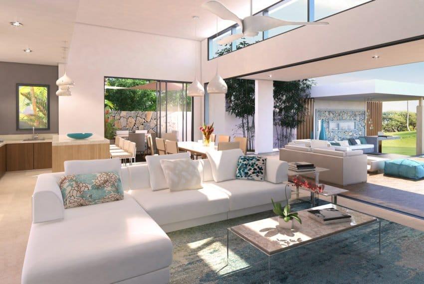 Golf View Villa - Living - 3D