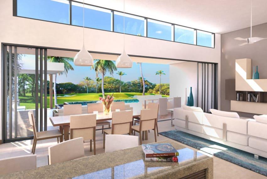 Golf View Villa - Living To Terrace - 3D