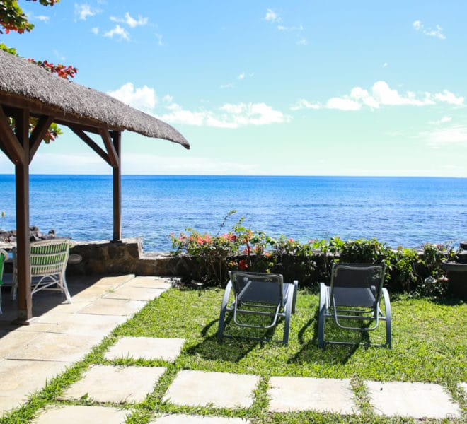 Location villa pied dans l'eau Tamarin Ile Maurice