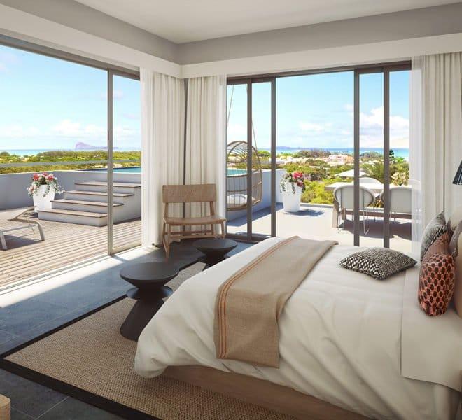 villa luxe grand gaube ile maurice chambre