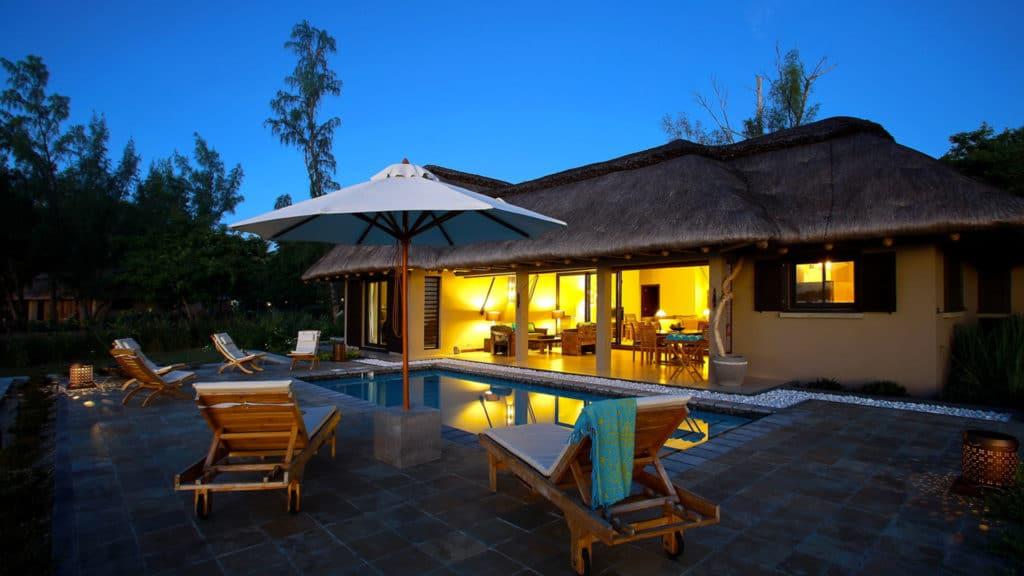 Terrace et piscine bien immobilier ile maurice