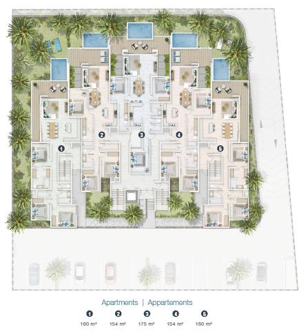 site plan appartement jardin athena