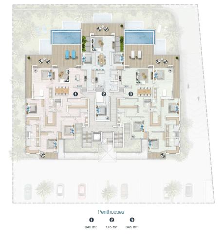 site plan penthouse jardin athena