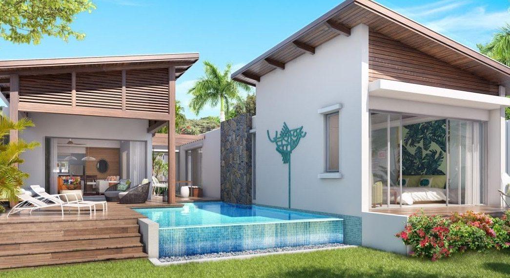 Villa terrasse Anbalaba baie du cap immobilier ile maurice
