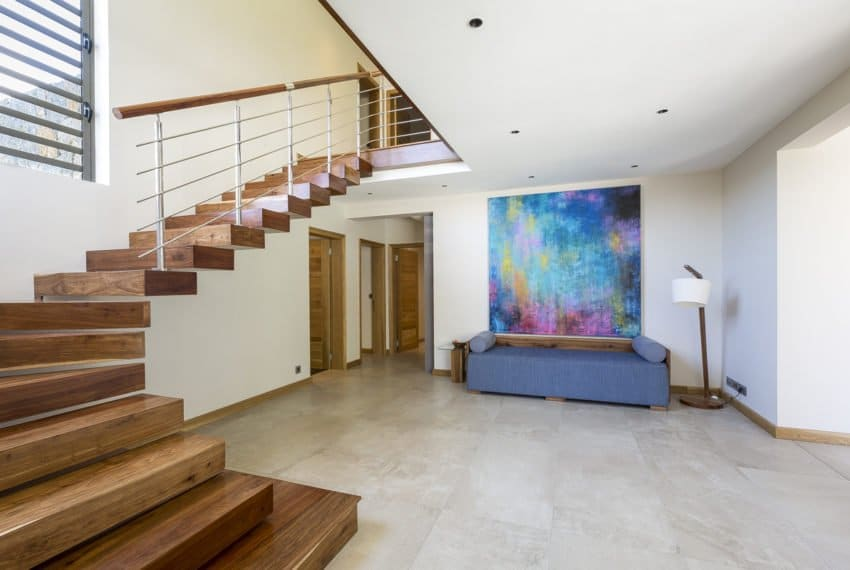 escalier villa ile maurice