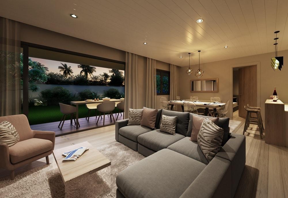 Harmony Villa Salon - Cap Marina Immobilier Ile Maurice