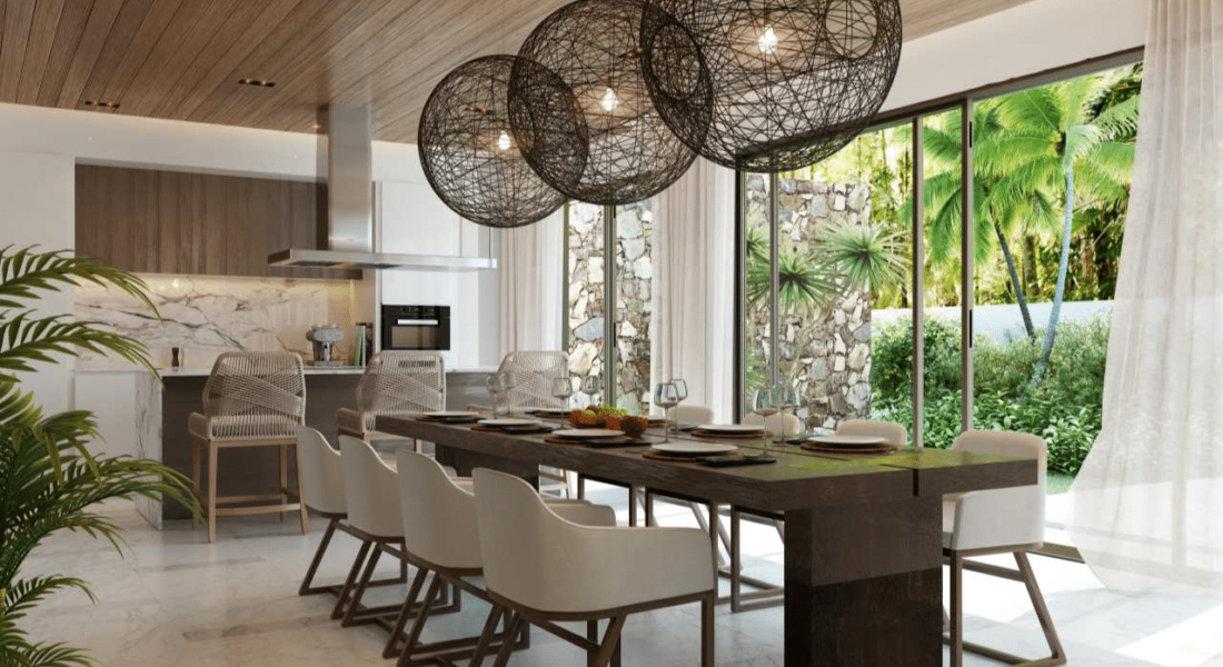 salle a manger One & Only Private Homes - immobilier ile maurice