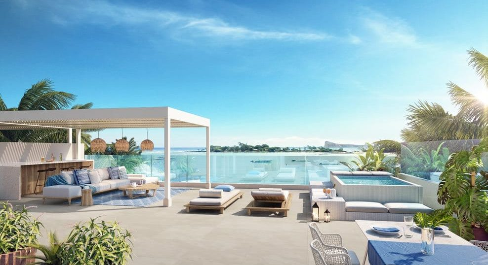 terasse Casa Alegria - Achat penthouse ile maurice